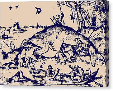 Big Fish Eat Little Fish Canvas Print by