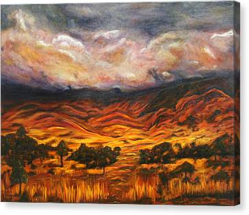 Big Gountry - Mac Donnell Ranges Australia Canvas Print by Lyndsey Hatchwell