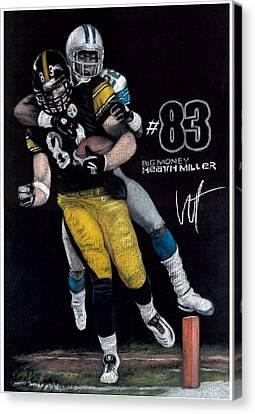 Steelers Canvas Print - Big Heath by William Western
