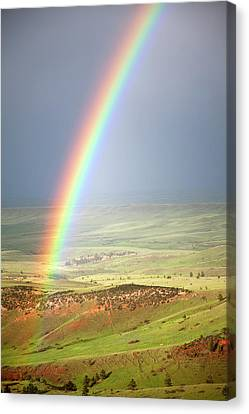 Big Horn Rainbow Canvas Print by John Stephens