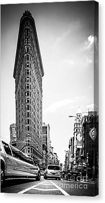 Big In The Big Apple - Bw Canvas Print by Hannes Cmarits