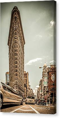 Building Canvas Print - Big In The Big Apple by Hannes Cmarits