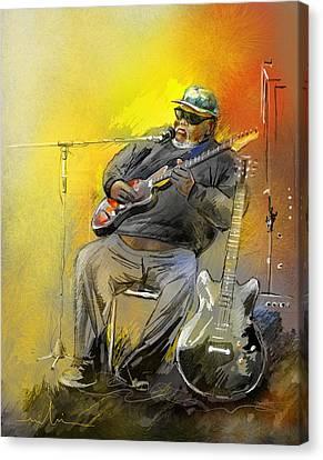 Big Jerry In Memphis Canvas Print by Miki De Goodaboom
