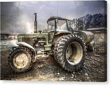 Big John In Winter Canvas Print by Debra and Dave Vanderlaan