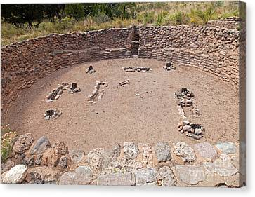 Big Kiva Bandelier National Monument Canvas Print