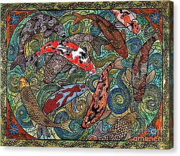 Big Koi Pond Canvas Print by Melissa Cole