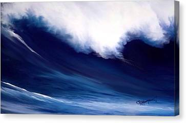 Canvas Print featuring the digital art Big Kahuna 2 by Anthony Fishburne