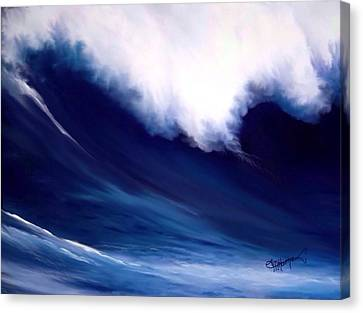 Canvas Print featuring the digital art Big Kahuna  by Anthony Fishburne