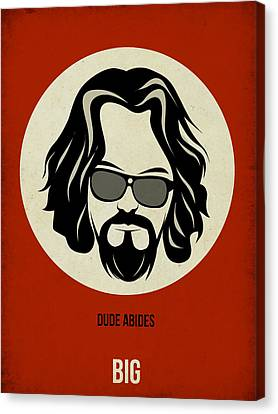 Big Lebowski Poster Canvas Print by Naxart Studio