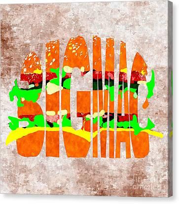 Big Mac Typography Canvas Print by Daniel Janda