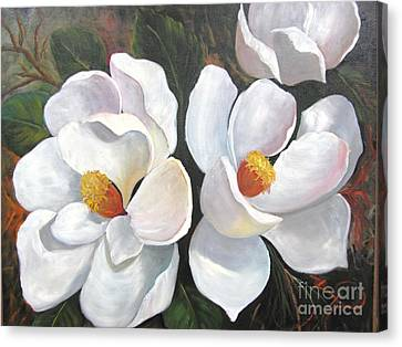 Big Magnolias Canvas Print