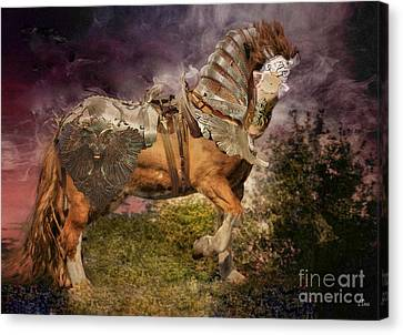 Big Max Dressed And Ready For Battle Canvas Print by Wobblymol Davis