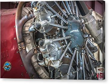 Big Motor Vintage Aircraft  Canvas Print by Rich Franco