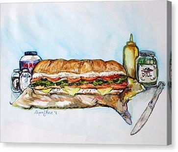 Big Ol Samich Canvas Print