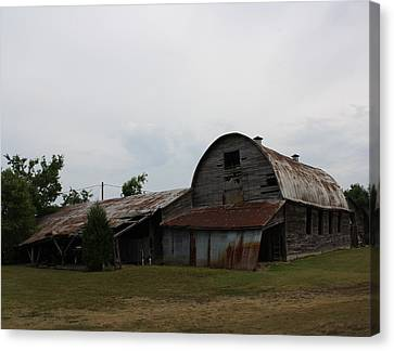 Big Old Barn Canvas Print by Terry Scrivner