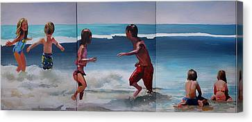 Big One Coming Canvas Print by Geoff Greene
