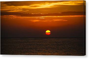 Canvas Print featuring the photograph Big Orange Ball by Phil Abrams