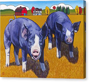 Big Pigs Canvas Print