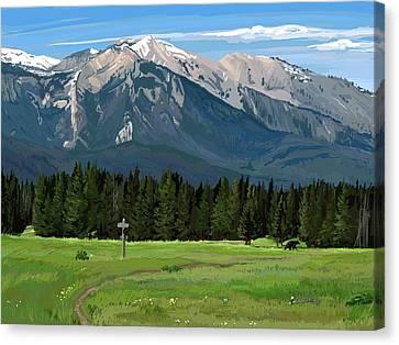 Big Prairie Trail Junction Canvas Print