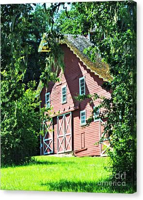 Canvas Print featuring the photograph Big Red Barn by Mindy Bench