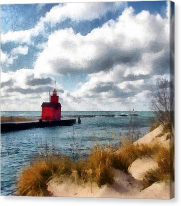 Big Red Big Wind Canvas Print by Michelle Calkins