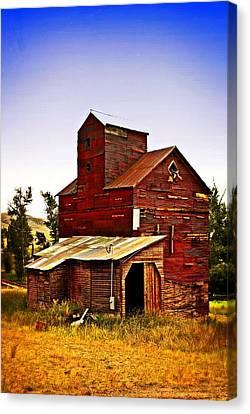 Big Red Grain Elevator Canvas Print by Marty Koch