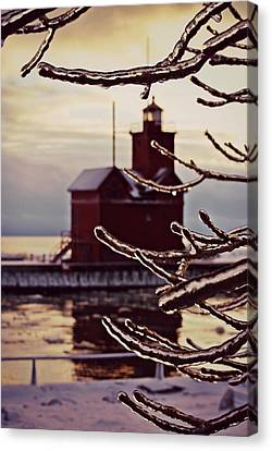 Big Red Ice Canvas Print by Dawdy Imagery