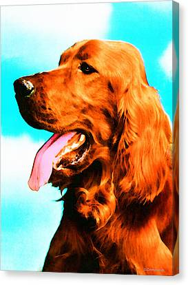 Big Red - Irish Setter Dog Art By Sharon Cummings Canvas Print by Sharon Cummings