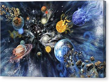 Big Rip End To The Universe Canvas Print