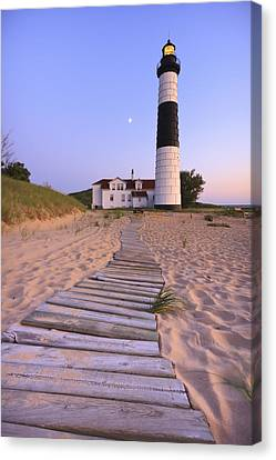 Building Canvas Print - Big Sable Point Lighthouse by Adam Romanowicz