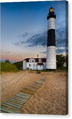 Big Sable Point Lighthouse Canvas Print by Sebastian Musial