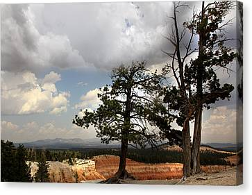 Big Sky Over Bryce Canyon Canvas Print by Joseph G Holland