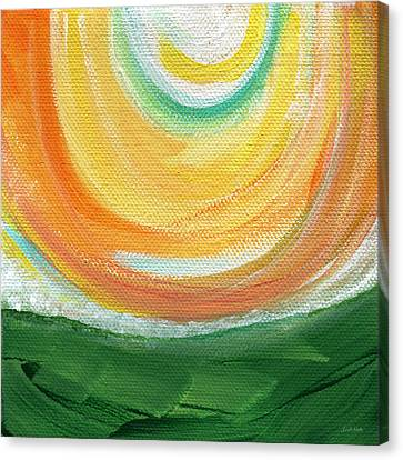 Big Sun- Abstract Landscape  Canvas Print by Linda Woods