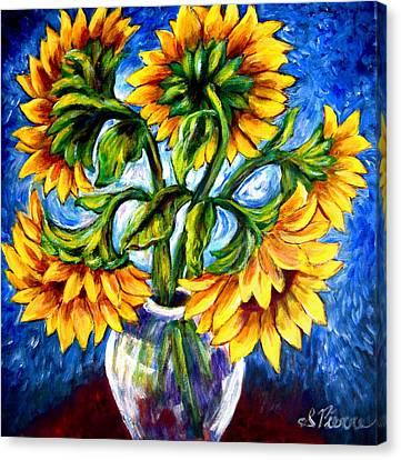 Big Sunflowers Canvas Print