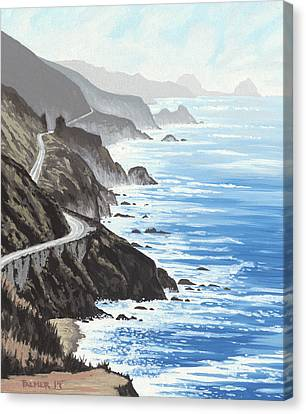 Big Sur Canvas Print by Andrew Palmer