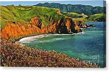 Big Sur California Coastline Canvas Print by Bob and Nadine Johnston