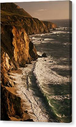 Canvas Print featuring the photograph Big Sur Coast by Lee Kirchhevel