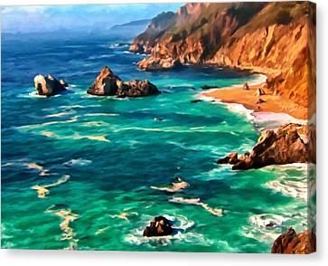 Big Sur Coast Canvas Print by Michael Pickett