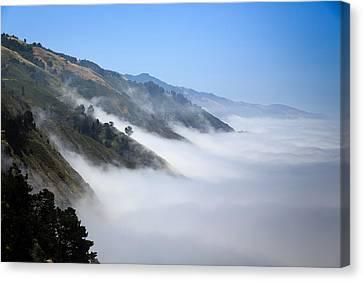 Big Sur Fog Canvas Print by Mathew Lodge