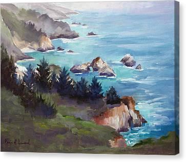 Big Sur In The Mist Canvas Print