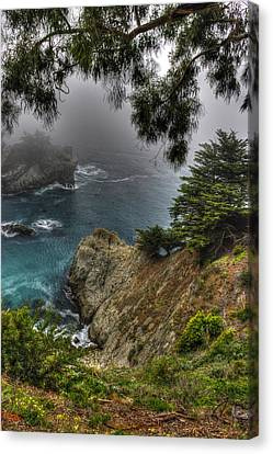 Big Sur Julia Pfeiffer State Park-1 Central California Coast Spring Early Afternoon Canvas Print