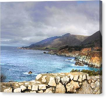 Canvas Print featuring the photograph Big Sur by Kandy Hurley