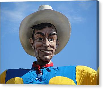 Canvas Print featuring the photograph Big Tex by Charlie and Norma Brock