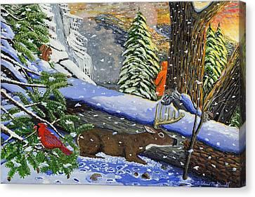 Big Timber Buck Canvas Print