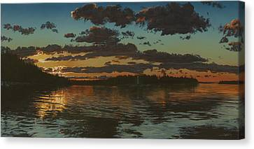 Big Tub Sunset Canvas Print by Michael Marcotte