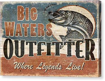 Big Waters Outfitters Canvas Print by JQ Licensing