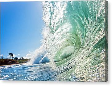 Canvas Print featuring the photograph Big Wave On The Shore by Paul Topp