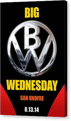 Big Wednesday 2014 Poster Canvas Print by Ron Regalado