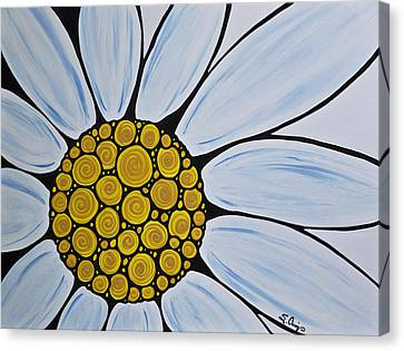 Big White Daisy Canvas Print by Sharon Cummings