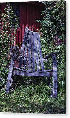 Big Wooden Chair Canvas Print by Garry Gay